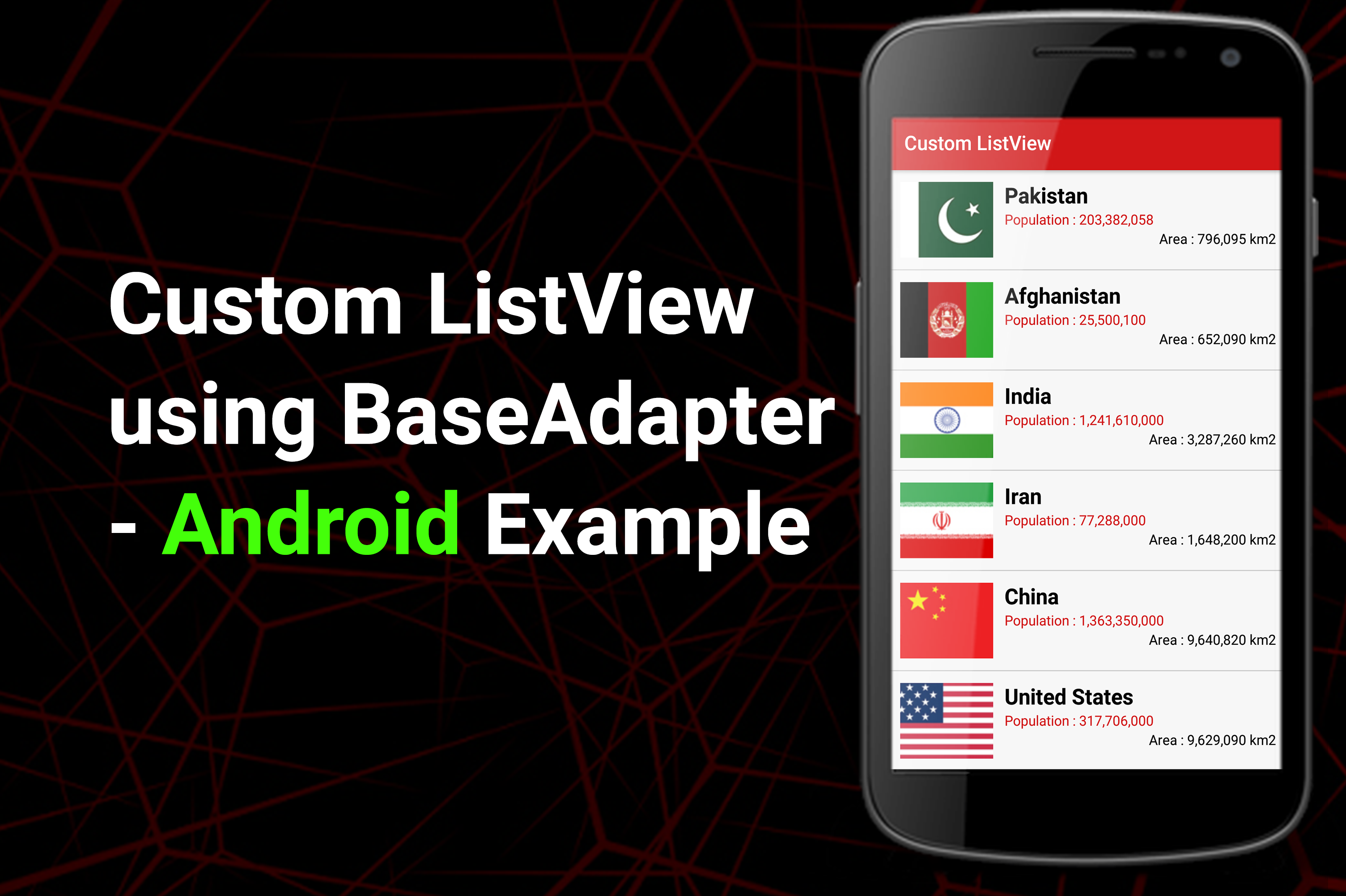Custom ListView using BaseAdapter - Android Example - Tutorials Cache