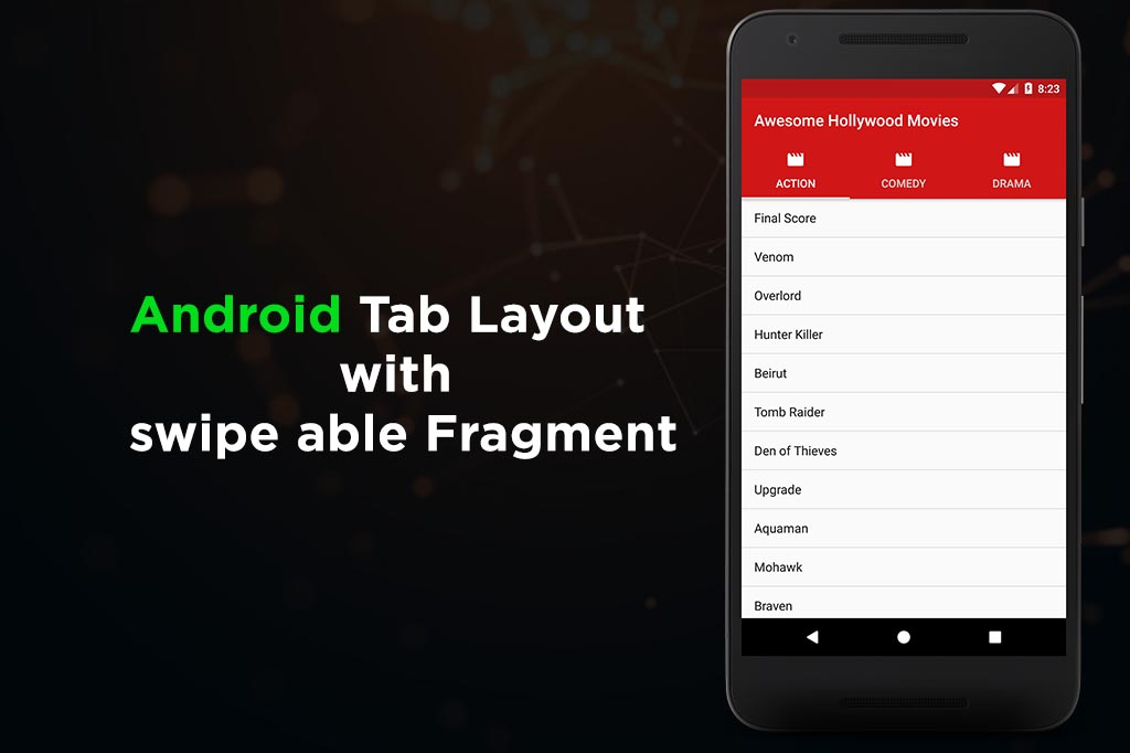 Android Tab Layout with swipe able Fragments - Tutorials Cache